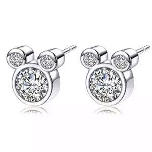 Jewelry - Mickey CZ earrings